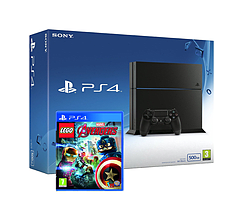 PlayStation 4 500GB (Black) with LEGO Marvel Avengers PS4