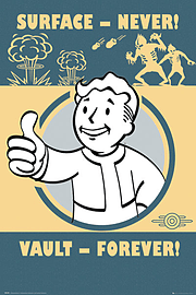 Fallout 4 Vault Forever Maxi Poster 61x91.5cm Posters