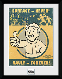 Fallout 4 Vault Forever 30x40 Framed Collector Print Posters