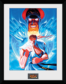 Street Fighter Ryu and Bison 30x40 Framed Collector Print Posters