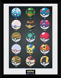 Pokemon Pokeballs 30x40 Framed Collector Print Posters