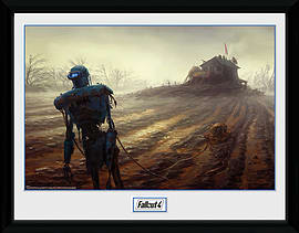 Fallout 4 Farming Robot 30x40 Framed Collector Print Posters