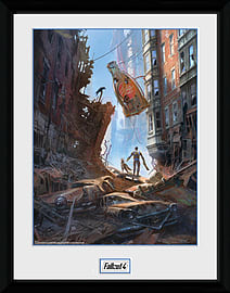 Fallout 4 Street Scene 30x40 Framed Collector Print Posters