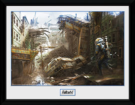 Fallout 4 Vertical Slice 30x40 Framed Collector Print Posters