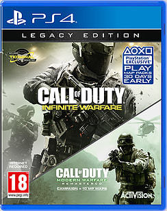 Call of Duty: Infinite Warfare - Legacy Edition with Modern Warfare Remastered PS4 Cover Art