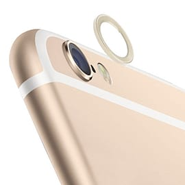 2 x Metal Alloy Rear Camera Lens Protector Protective Ring For Apple iPhone 6 (4.7 Inch) (Gold) Mobile phones