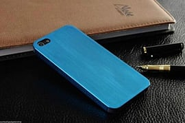 Slim Brushed Metal Aluminium Luxury Hard Back Case Cover For Apple iPhone 5 5S - Blue Mobile phones