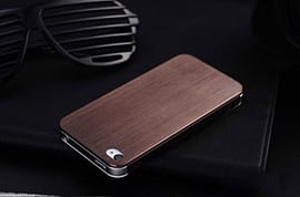 Slim Brushed Metal Aluminium Luxury Hard Back Case Cover For Apple iPhone 5 5S - Brown Mobile phones