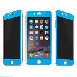 0.3mm Anti Glare Privacy Full Screen Tempered Glass Screen Protector iPhone 6 6S-Blue Mobile phones