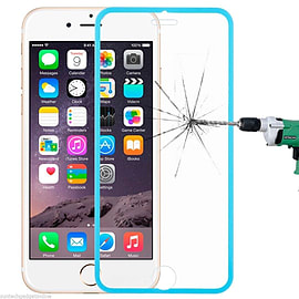 Tempered Glass Genuine Full Screen Protector To Edge For Apple iPhone 6 6S Plus - Blue Mobile phones