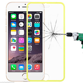 Tempered Glass Genuine Full Screen Protector To Edge For Apple iPhone 6 6S Plus - Yellow Mobile phones