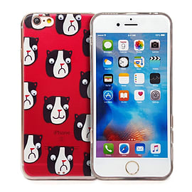 Goggle Eye Retro Cartoon Case Cover Protector For Apple - iPhone 6 Plus / iPhone 6S Plus Panda Mobile phones