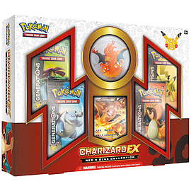 Pokemon TCG: Charizard-EX Collection Card Game, Red/Blue Trading Cards