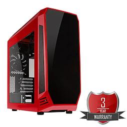 AMD A8 7650K Quad Core @ 3.70GHz, Radeon R7, 8GB Vengeance, 1TB Hard Drive, Bitfenix Aegis Red PC