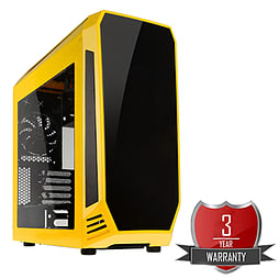 AMD A8 7650K Quad Core @ 3.70GHz, Radeon R7, 16GB Vengeance, 1TB Hard Drive, Bitfenix Aegis Yellow PC