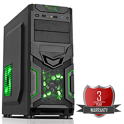 AMD A8 7650K Quad Core @ 3.70GHz, Radeon R7, 16GB Vengeance, 1TB Hard Drive, CiT Goblin Green PC