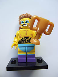 Lego Series 15 Minifigures, Wrestling Champion (Open) - 71011 Blocks and Bricks