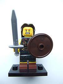 Lego Series 6 Minifigures, Highland Battler (Open) - 8827 Blocks and Bricks