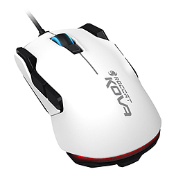 ROCCAT Kova Pure Performance 7000DPI Optical Gaming Mouse, 1.8m, White PC