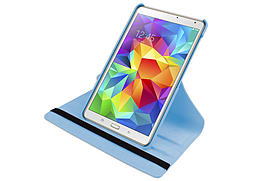 Hellfire Trading PU Leather Case 360 Rotating for Samsung Galaxy Tab S T700 8.4[Light Blue] Tablet