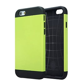 Slim Armor 2 Piece Hybrid Shock Proof Case Cover + Screen Protector For Apple iPhone 6 6S - Green Mobile phones