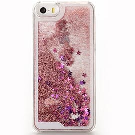 Glitter Bling Stars Liquid Colourful Novelty Hard Case Cover for Apple iPhone 6 6S - Pink Mobile phones