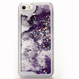 Glitter Bling Stars Liquid Colourful Novelty Hard Case Cover for Apple iPhone 6 6S - Purple Mobile phones