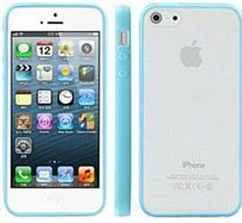 Translucent Frosted Plastic Protective Case Cover with TPU Frame for Apple iPhone 5 5S SE - Blue Mobile phones