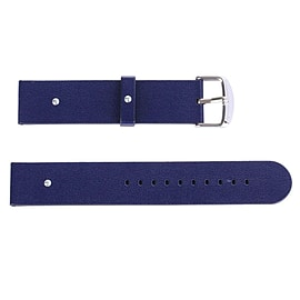 Replacement PU LeatherBuckle Wrist Watch Strap With Metal Clasp For Apple Watch 38mm (Dark Blue) Multi Format and Universal