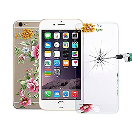Full Screen 3D Curved Diamond Encrusted Front / Back Tempered Glass for Apple iPhone 6 6S - Design 3 Mobile phones