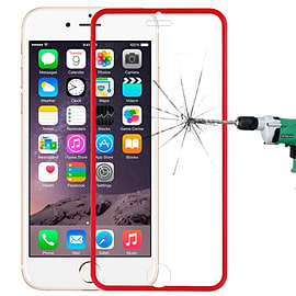 Premium Full Screen Tempered Glass Screen Protector Scratch Resistant for Apple iPhone 6 6S - Red Mobile phones