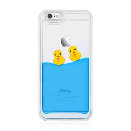 Swimming Floating Ducks Blue Liquid Hard Case Cover For Apple iPhone 6 Plus / 6S Plus - Dark Blue Mobile phones