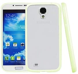 Translucent Frosted Plastic Protective Case Cover with TPU Frame for Samsung Galaxy S4 - Grass Green Mobile phones