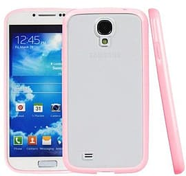 Translucent Frosted Plastic Protective Case Cover with TPU Frame for Samsung Galaxy S4 i9500 - Pink Mobile phones