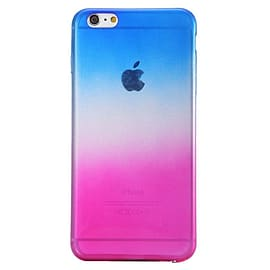 Ultra Slim Soft Transparent Gradient Ramp Colourful Case Cover for Apple iPhone 6 6S - Blue Mobile phones