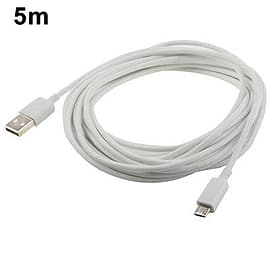 5 Meter 5m Micro USB Port USB Data Cable for Samsung, Nokia, LG, BlackBerry, HTC, Amazon Kindle Mobile phones