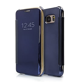 Frostycow Mirror Smart View Magnetic Flip Case Cover For Samsung Galaxy S7 Edge Dark Blue Mobile phones