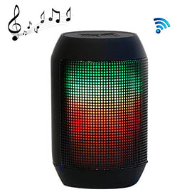 Portable Wireless Colourful LED Light HIFI Speaker with Multi-Function Bluetooth - Black Multi Format and Universal