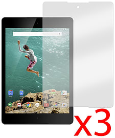 Hellfire Trading 3x Anti-Glare Screen Protector Cover for Google Nexus 9 2014 Tablet