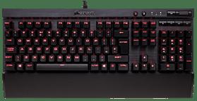 Corsair Gaming K70 RapidFire, Black, Red LED, Cherry MX Speed Keyboard screen shot 1