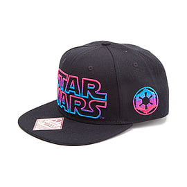 Star Wars Embroidered Neon Galactic Empire Logo Snapback Baseball Cap One S SB150822STW Clothing