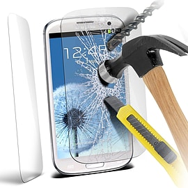 N4U - Genuine Premium Tempered Glass Film Screen Protector for Samsung i9300 Galaxy S3 Mobile phones