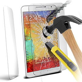 N4U - Genuine Premium Tempered Glass Film Screen Protector for Samsung Galaxy Note 3 Mobile phones
