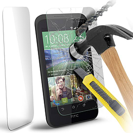N4U - Genuine Premium Tempered Glass Film Screen Protector for HTC Desire 320 Mobile phones