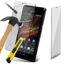 N4U - Genuine Premium Tempered Glass Flim Screen Protector for Sony Xperia M Mobile phones
