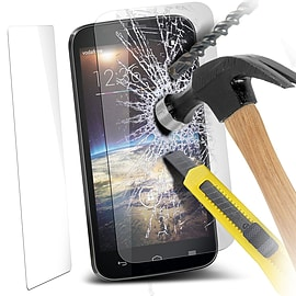 N4U - Genuine Premium Tempered Glass Film Screen Protector for Vodafone Smart 4 Power Mobile phones