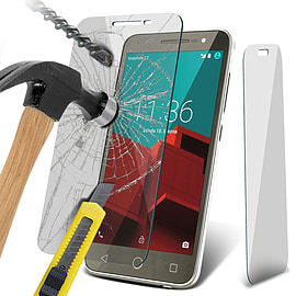 N4U - Genuine Premium Tempered Glass Screen Protector for Vodafone Smart Prime 6 Mobile phones