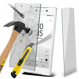 N4U - Genuine Premium Tempered Glass Film Screen Protector for Sony Xperia Z5 Compact Mobile phones