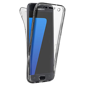 N4U - Shockproof 360? TPU Gel Protective Silver Transparent Case Cover For Samsung Galaxy J1 Mobile phones