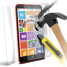 N4U - Genuine Premium Tempered Glass Film Screen Protector for Nokia Lumia 1320 Mobile phones